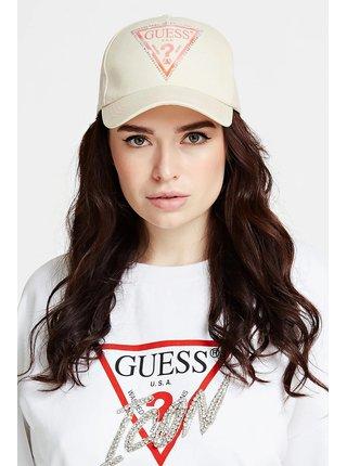 Guess béžová kšiltovka Front Logo