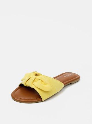 Slapi  pentru femei Pieces - galben