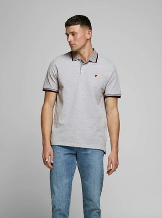 Šedé polo tričko Jack & Jones Bluwin