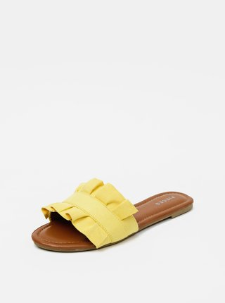 Žlté šľapky v semišovej úprave Pieces Nola