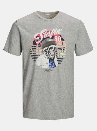 Šedé tričko Jack & Jones Ricky