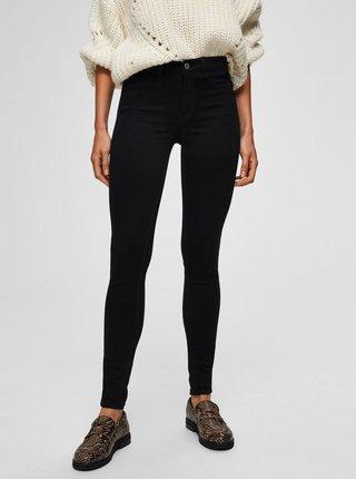 Černé skinny fit džíny Selected Femme Gaia