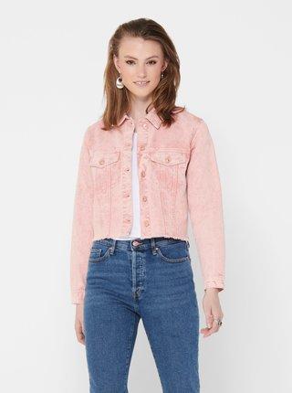 Růžová džínová bunda Jacqueline de Yong Rosa