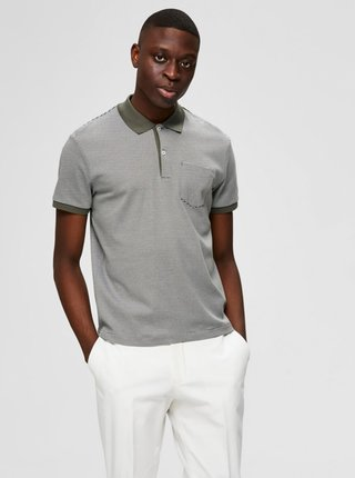 Šedé polo tričko Selected Homme Brighton