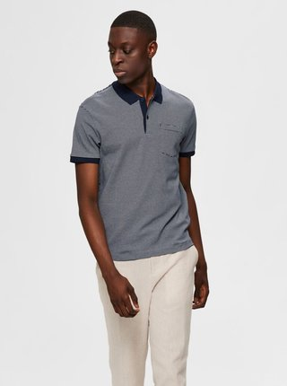 Modré polo tričko Selected Homme Brighton