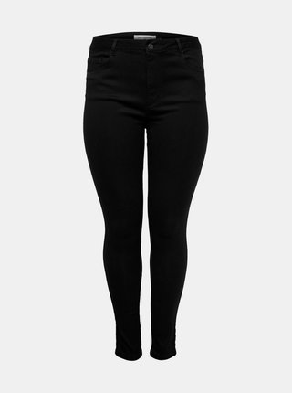 Černé skinny fit džíny ONLY CARMAKOMA Augusta