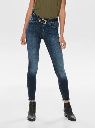 Tmavě modré zkrácené skinny fit džíny ONLY Blush
