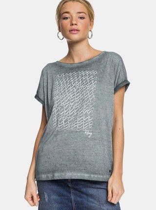 Šedé tričko s potiskem Roxy