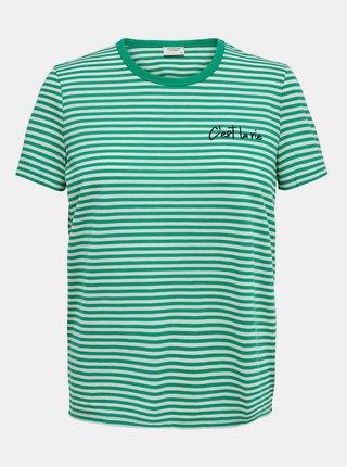 Zelené pruhované tričko Jacqueline de Yong City