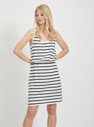 Čierno-biele pruhované basic šaty VILA Calina