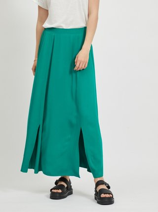 Zelená maxi sukně VILA Suvita