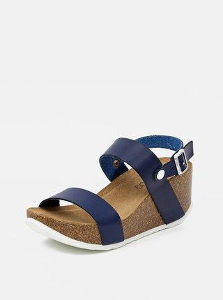 Tmavomodré dámske sandálky OJJU