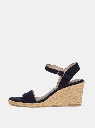 Tmavomodré sandálky v semišovej úprave Tamaris