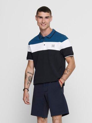 Tmavě modré polo tričko ONLY & SONS Kahlil