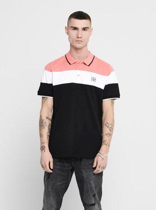 Růžové polo tričko ONLY & SONS Kahlil