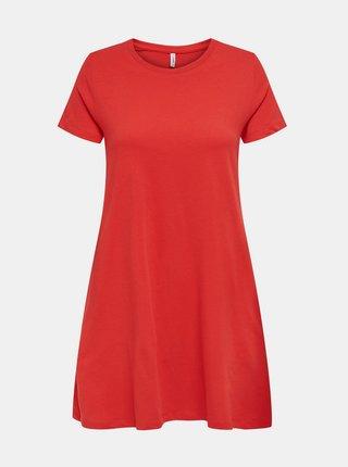 Červené basic šaty ONLY May