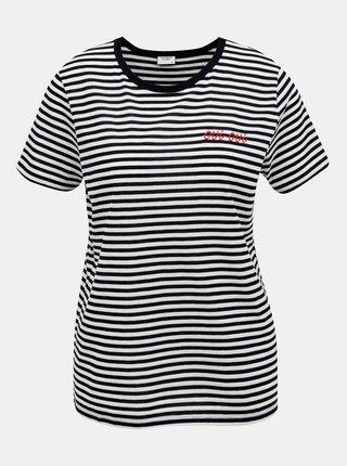 Tmavomodré pruhované tričko Jacqueline de Yong City
