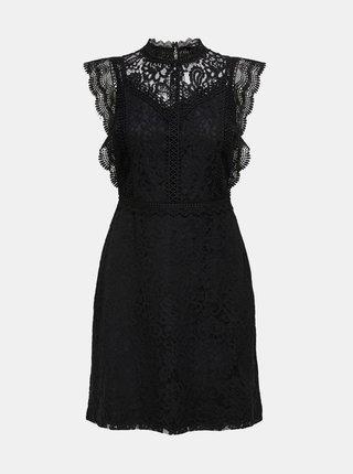 Černé krajkové šaty ONLY Karo