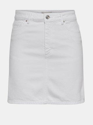 Bílá džínová sukně ONLY Rose