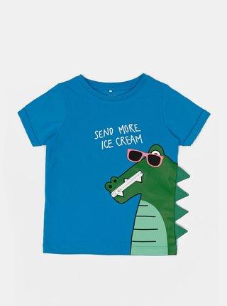 Modré klučičí tričko s potiskem name it Zanimo