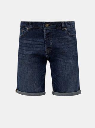 Tmavě modré džínové kraťasy ONLY & SONS Ply