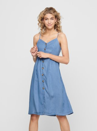 Světle modré džínové šaty ONLY Milen