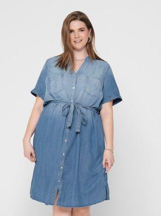 Modré džínové šaty ONLY CARMAKOMA USh