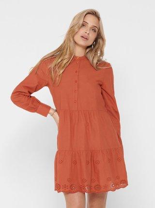 Cihlové šaty ONLY Amabel