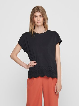Čierne tričko ONLY Cosma