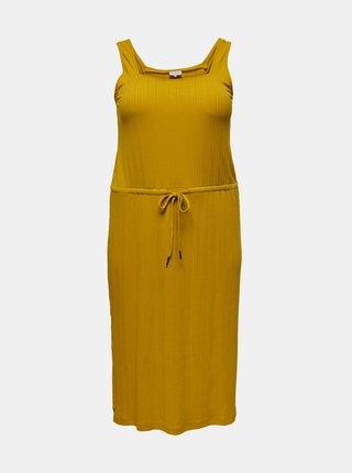 Hořčicové šaty ONLY CARMAKOMA Sophia