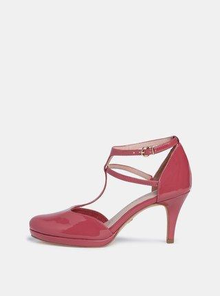 Ružové lesklé lodičky Tamaris