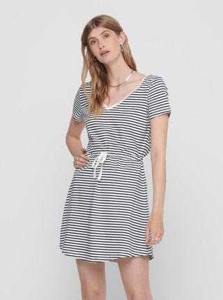 Modro-biele pruhované basic šaty ONLY May