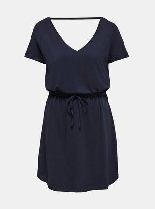 Tmavě modré basic šaty ONLY May
