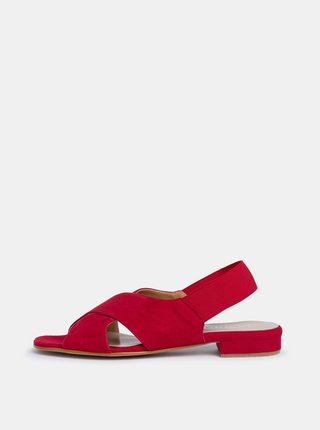 Červené dámské semišové sandály Tamaris