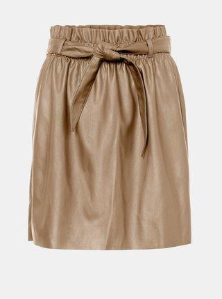 Béžová koženková sukňa VERO MODA Award