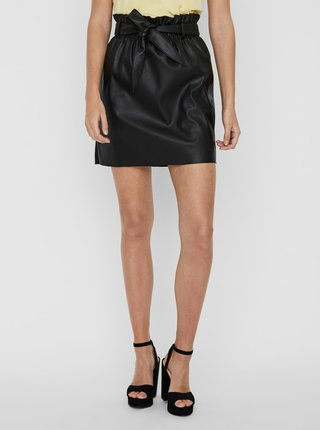Černá koženková sukně VERO MODA Award