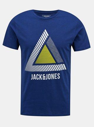 Modré tričko Jack & Jones Geek