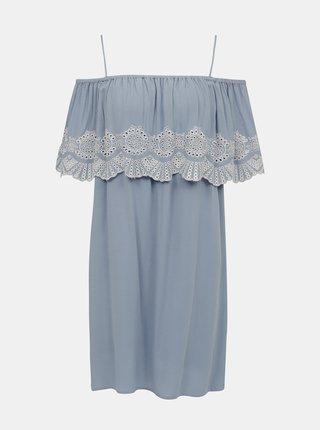 Svetlomodré šaty s madeirou VILA Latii