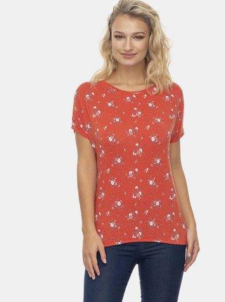 Červené dámské květované tričko Ragwear Pecori