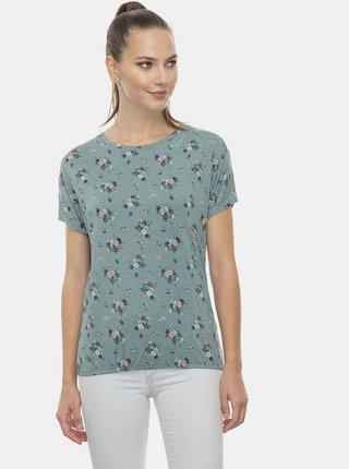 Zelené dámské květované tričko Ragwear Pecori