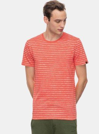 Červené pánské pruhované tričko Ragwear Steef