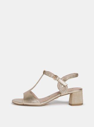 Sandálky v zlatej farbe Tamaris