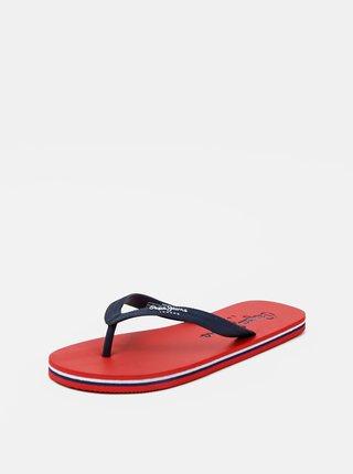 Červeno-modré pánske žabky Pepe Jeans