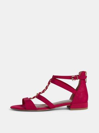 Červené sandály Tamaris
