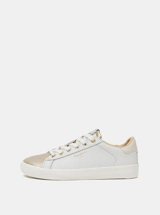 Pantofi sport si tenisi pentru femei Pepe Jeans - crem