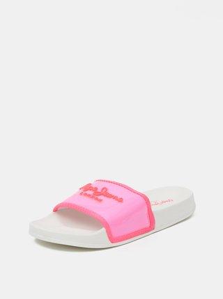 Ružové dámske šľapky Pepe Jeans