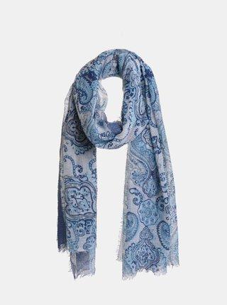 Modrý vzorovaný šátek Ble