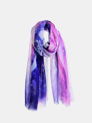 Růžovo-modrý šátek Ble