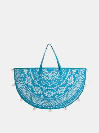 Modrá vzorovaná plážová taška Ble