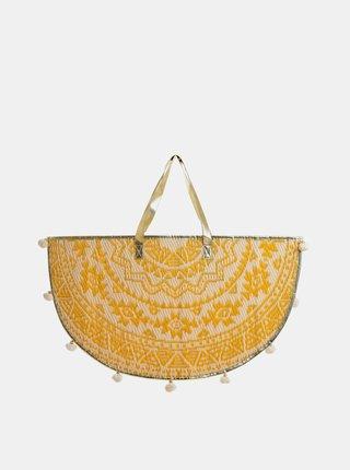 Žlutá vzorovaná plážová taška Ble